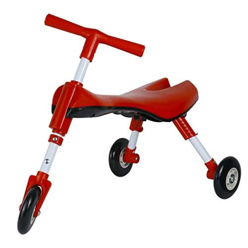 Medog Fly Bike Scooter Opvouwbare peuters Glide driewieler Ride On Toy - Anti-kraswielen - Geen installatie vereist,Red