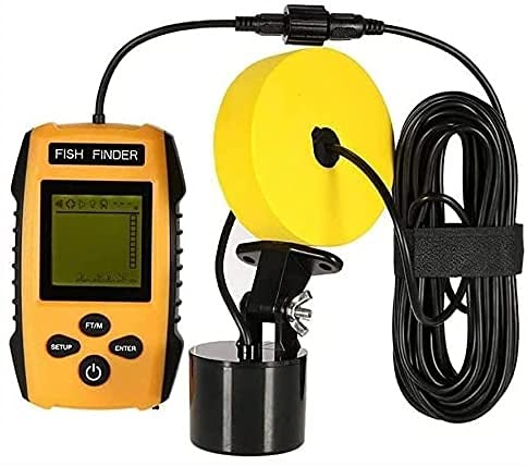 WSVULLD Finder Finder Portable Fish Finder Handheld Fishfinder Profundidad Finder Hielo con Transductor de Sonar y Pantalla LCD, para Pesca Pesca de Hielo Pesca Kajak Pesca