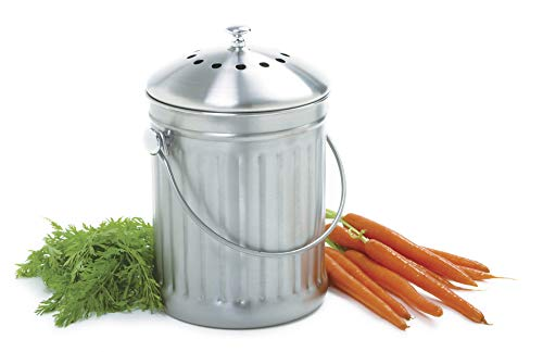 Best Prices! Norpro 1 Gallon Stainless Steel Compost Keeper,