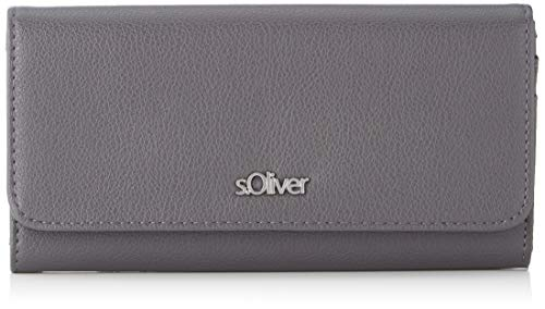 s.Oliver (Bags Damen 39.912.93.2380 Geldbörse, Grau (Grey/Black), 1x10x19 cm