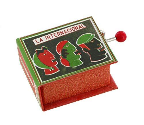 Caja de música/caja musical de manivela de cartón en forma de libro - La internacional (Pierre Degeyter)