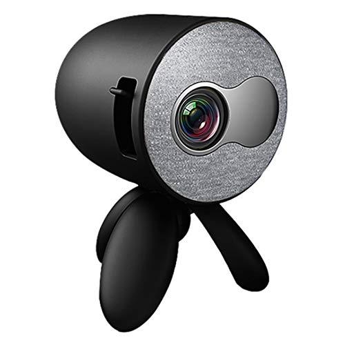 Mini Proyector, Pantalla Grande Soporte 1080P, Pantalla de 24-80 ', Corrección de Distorsión Trapezoidal y Sistema óptico Fuera del Eje, Sistema de Enfriamiento Eficiente, para Cine en Casa,Negro