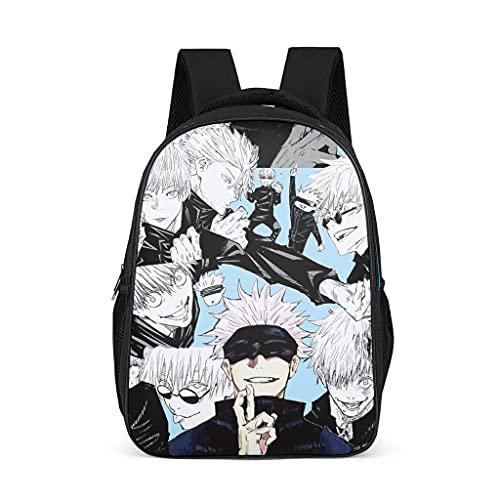 Backpack Jujutsu Kaisen Sukuna Pattern Bookbag Multi-Function Daypack Travel Bag for Boys Girls bright gray onesize