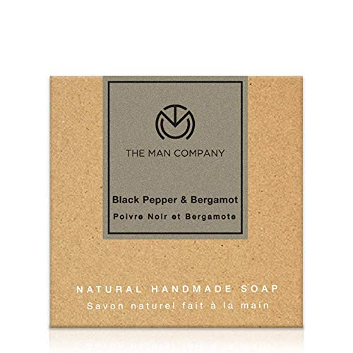 The Man Company skin brightening Soap with Blackpepper and Bergamot (125 gm) | Made in India