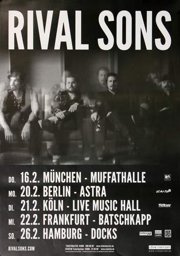 Rival Sons - Hollow Bones, Tour 2017 » Konzertplakat/Premium Poster   Live Konzert Veranstaltung   DIN A1 «