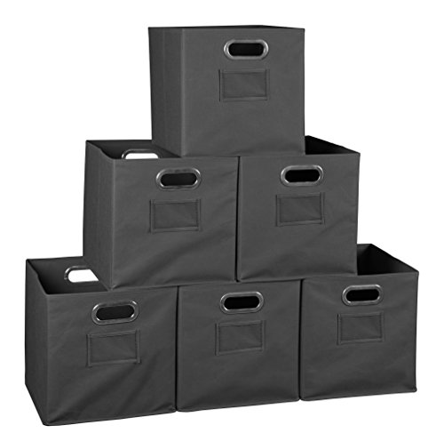 Niche Cubo Foldable Fabric Storage Bin, Set of 6, Grey