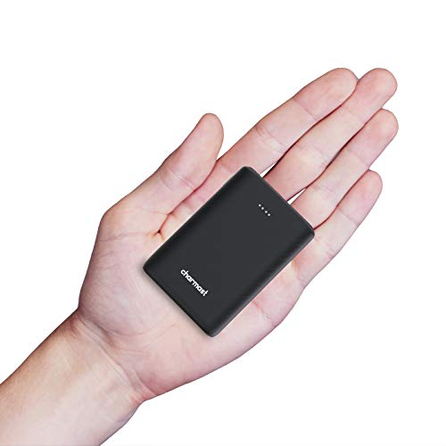 Charmast Mini PowerBank 10400mAh Batería Externa Carga Rápida Power Delivery Portable PD USB con 2 Entradas/3 Salidas 5V 3A para iPhone, iPad, iPad Pro, MacBook, Samsung Laptop