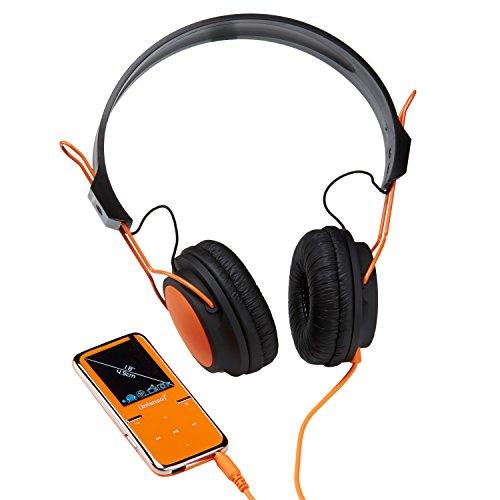 Intenso Video Scooter MP3-Videoplayer (4,5 cm (1,8 Zoll) Display) inkl. 8GB micro SD-HC Karte/On-Ear Kopfhörer orange