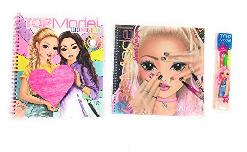Trio Top Model - Cuaderno con pegatinas