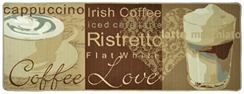 Hanse Home Küchenläufer Coffee Love Braun Creme Beige, 67x180 cm