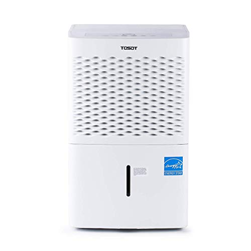 TOSOT 1,500 Sq Ft Energy Star Dehumidifier - for Home, Basement, Bedroom or Bathroom - Super Quiet, Automatically Drains, with Removable Water Bucket - 30 Pint