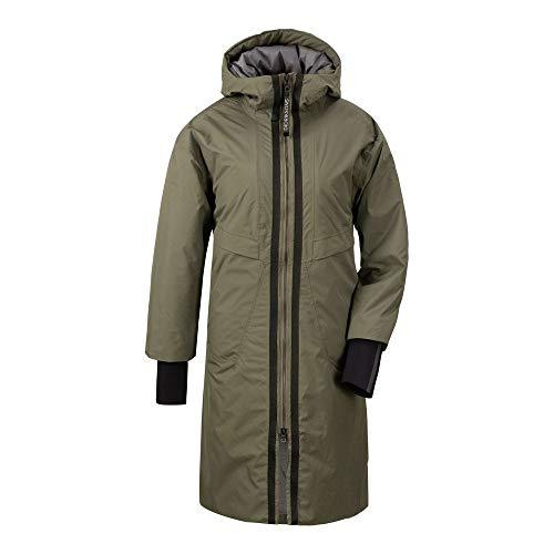 Didriksons W Aino Parka 2 Grün, Damen Isolationsjacke, Größe 40 - Farbe Fog Green