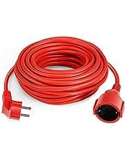 SIMBR Cable Alargador de Corriente IP20 H05VV Cable Eléctrico 15m Color Rojo