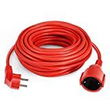 SIMBR Cable Alargador de Corriente IP20 H05VV Cable Eléctrico 15m Color Rojo