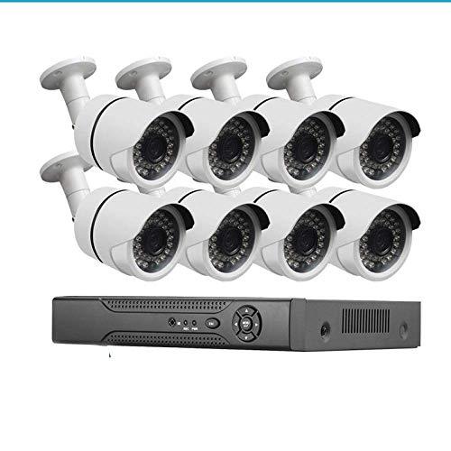 La cámara de bala cámaras de seguridad al aire libre 8Ch 1080P Poe IP del CCTV del kit de la cámara de vigilancia, de Onvif P2P / NVR-1080P + 2TB HDD LMMS (Color : 1080p+1tb Hdd)