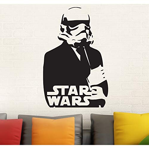 LETAMG Stickers Muraux Sticker Mural Amovible en Vinyle Star Wars Sticker Mural Autocollant Décor À La Maison