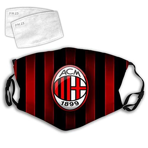 135 L-iverpool, mascherina regolabile e confortevole, motivo divertente, unisex, A-c Milan-1, taglia unica