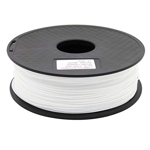 FAN-MING-N-3D, Zonestar Shipping From Russia 3D printer filament PLA 1.75mm plastic Consumables Material 28 Colors 1KG/Roll (Color : White)