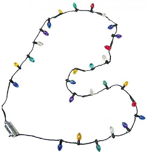 Lotsa Lites Christmas Holiday Flashing Light Bulbs Necklace (sold individually) by Carol Wright Gifts TOY (English Manual)