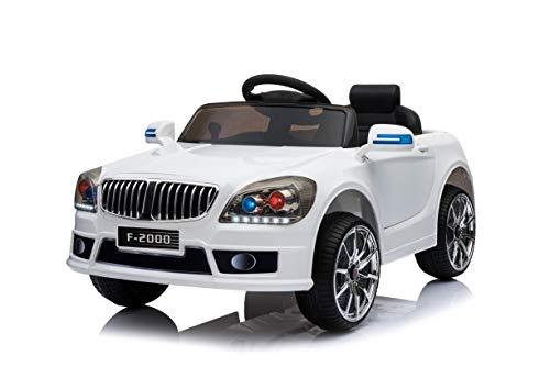 Toyas B-Sport Kinderfahrzeug Elektrofahrzeug Kinder Elektroauto mit Fernbedienung Weiß