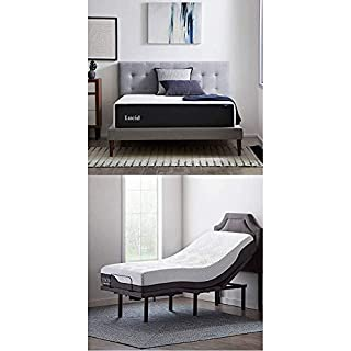 LUCID 14 Inch Memory Foam Medium Mattress and LUCID L600 Adjustable Bed Base, King (B08NDHYY3R) | Amazon price tracker / tracking, Amazon price history charts, Amazon price watches, Amazon price drop alerts