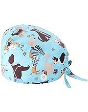 Cappello Turbante Cappello Bouffant Stampato Copricapo Bouffant Regolabile Cappello Unisex con Fascia Sudore per Lavoratori di Bellezza Forniture Cura Personale