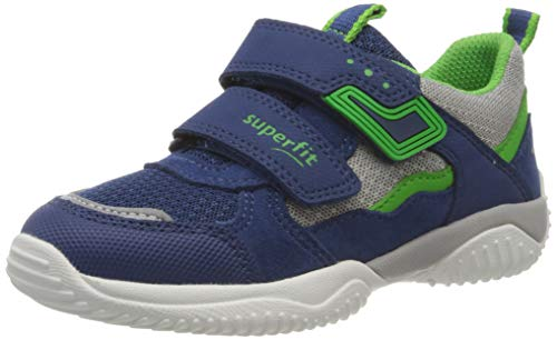 Superfit Jungen STORM Sneaker, (Blau/Grün 81), 34 EU