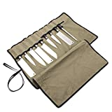 Knife Roll Bag with 8 Slots, Heavy Duty Knife Roll Up Bag, Durable