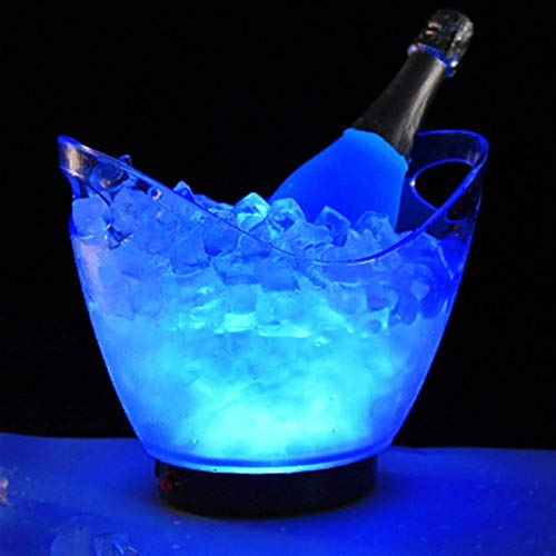 Cubo de hielo LED recargables Cubos de hielo acrílico Luminoso Vino Whisky Beber Barras más frías Cumpleaños LED LED Encienda Champagne Cerveza Cubos Para fiestas familiares ( Color : 12Lblue )