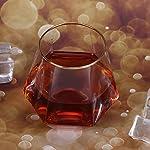 260ml-Unique-Hexagonal-Shape-Transparent-Glass-Whisky-Cup-Wine-Beer-Mug-Bar-Accessory-Gold-Edge