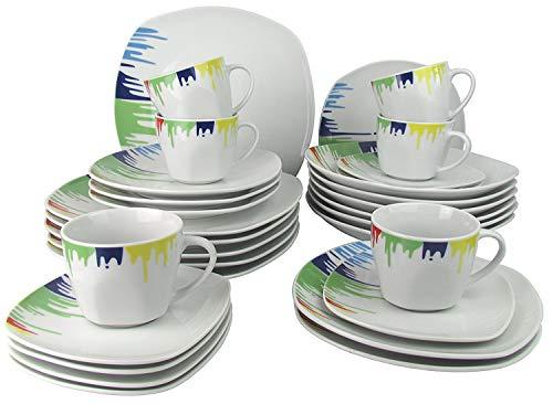 Steinmann Kombiservice 'Happy Color' / Geschirrset 30-teilig Porzellan - Geschirr Set im Geschenkkarton