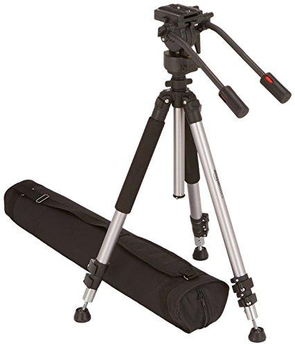 AmazonBasics - Dreibeinstativ für Videokamera, Höhe: 170 cm, inkl. Transporttasche