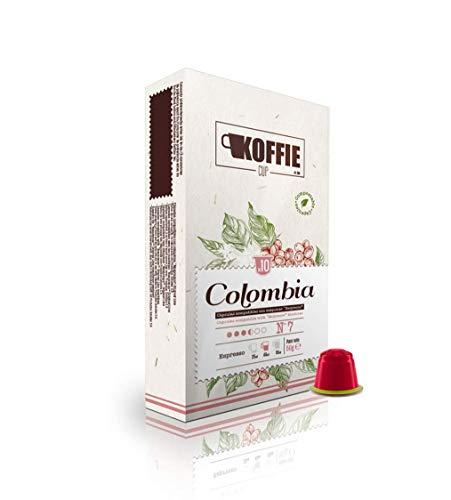 Koffie Cup Colombia 40 cápsulas compostables de café compatibles con máquinas Nespresso , receta Colombia , 40 capsulas cafe (4x10cáps) koffiecup