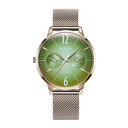 Welder Slim Damen-Armbanduhr 36mm Armband Edelstahl + Gehäuse Quarz WWRS605