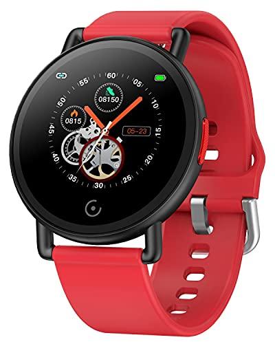 Reloj Inteligente, Reloj Deportivo con Pulsómetro para Hombre, Reloj para, Ujer con Monitorización del Sueño, Pulsera de Actividad Inteligente de Calorías, Reloj Inteligente Niños para Android e iOS