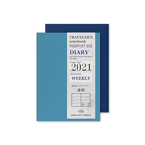 トラベラーズノート 手帳 リフィル 2021年 パスポートサイズ ウィークリー 14422006 (2021年 1月始まり)