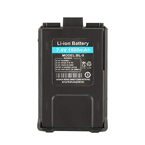 Easyeeasy Batería de Iones de Litio de 1800mAh para Baofeng UV-5R UV-5RE Walkie Talkie Radio bidireccional (Negro)