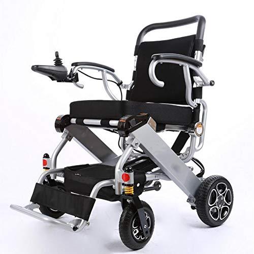Elektrische rolstoel, opvouwbaar en licht, met veiligheidsgordel, elektrische of handmatige bediening, verstelbare rugleuning en pedaal, controller
