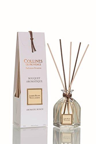 Collines de Provence - Duftbouquet/Duftdiffusor im Glasflakon 'Weißer Jasmin' (Jasmin Blanc) 100 ml