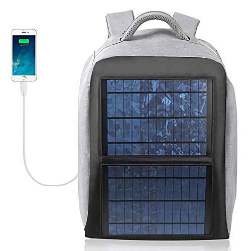 SOLARBAX ソーラーパネル付きバックパック (グレー) 大容量太陽光パネルのリュックサック