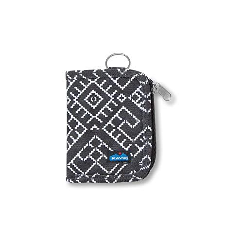 KAVU Zippy Wallet Bi Fold Zip Clutch With Removable Coin Pouch-Tile Maze