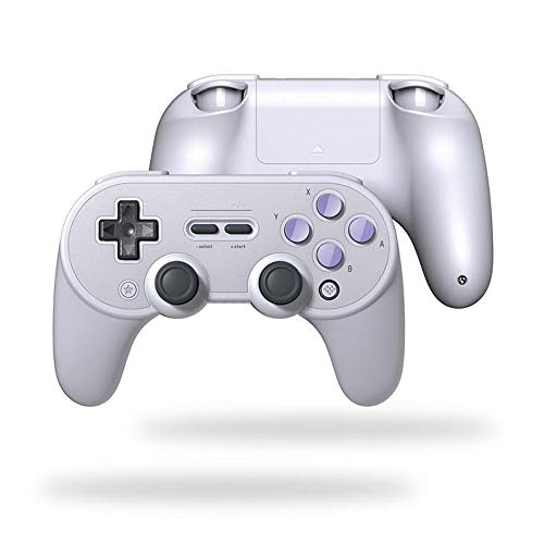 Yinglihua Gamepad Gamepad Contrôleur De Jeu Bluetooth Vibration Windows Android MacOS for Nintendo Commutateur Respberry Pi (Color : Gray, Size : One Size)