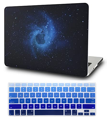 """KECC Laptop Case Compatible with MacBook Pro 13"""" (2020/2019/2018/2017/2016) w/Keyboard Cover Plastic Hard Shell A2159/A1989/A1706/A1708 Touch Bar 2 in 1 Bundle (Blue)"""