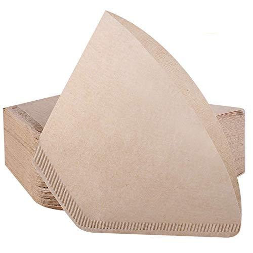 Kirmax 120 StüCk 2 Einweg Kaffee Filter Papier mit Kegel, Passend für 2-4 Tassen, Entwickelt für Kaffee Maschinen, Kaffee Tropfer