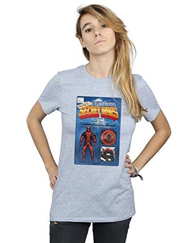 Marvel Mujer Deadpool Secret Wars Action Figure Camiseta del Novio Fit Deporte Gris Large