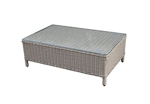 Büloo Polyrattan Gartenmöbel Lounge Set Sitzgruppe mit 2-Sitzer-Sofa oder 3-Sitzer-Sofa, Farbe in helles beige oder braun, aus Aluminium, fertig montiert (3-Sitzer-Sofa, braun/Weiss) Bild 4*