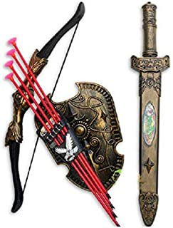 Toys Bow Arrow Double-edged Sword shield Sucker Simulation Archery collection  V0088