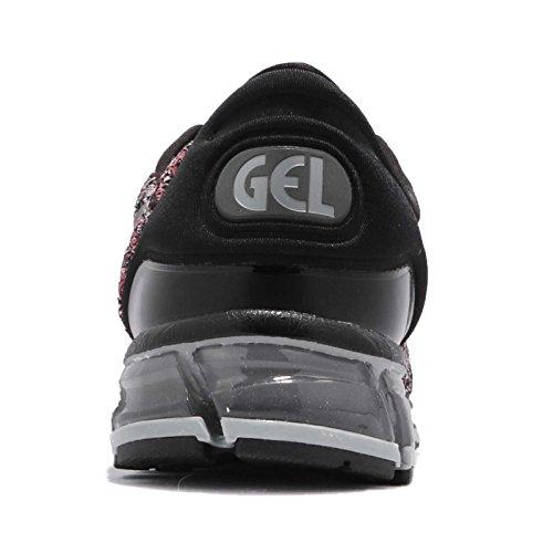 Asics Gel-Quantum 360 Knit 2, Zapatillas de Running Hombre, Multicolor (Black/Classic Red/Stone Grey 9023), 41.5 EU