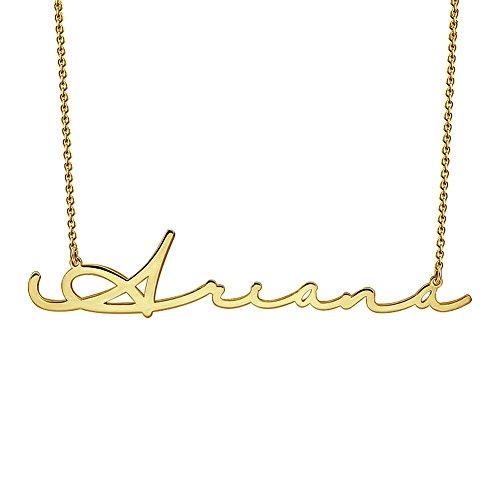 SOUFEEL Collar Plata Colgante con Nombre Estilo Árabe Personalizados Regalo para Novia Familia Aniversario o Cumpleaño Cadena Más Extención Chapado Oro 14k