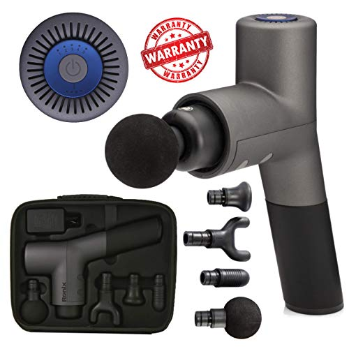 Great Price! Ronix Percussion Massage Gun Professional, Rechargeable, 5-Speed - Muscle Deep Tissue M...